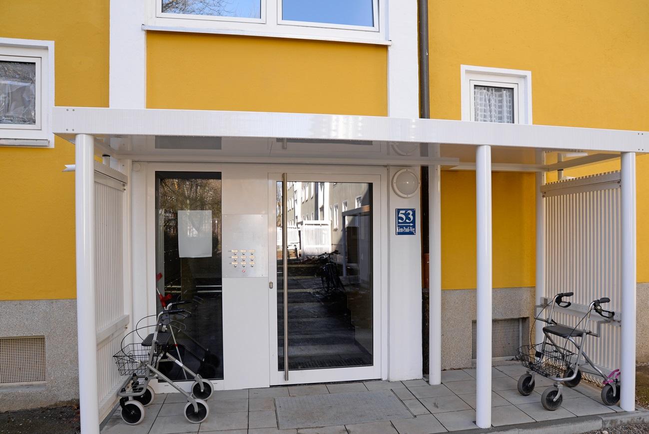 Instandsetzung in der Siedlung Alte Heimat (Foto GEWOFAG)