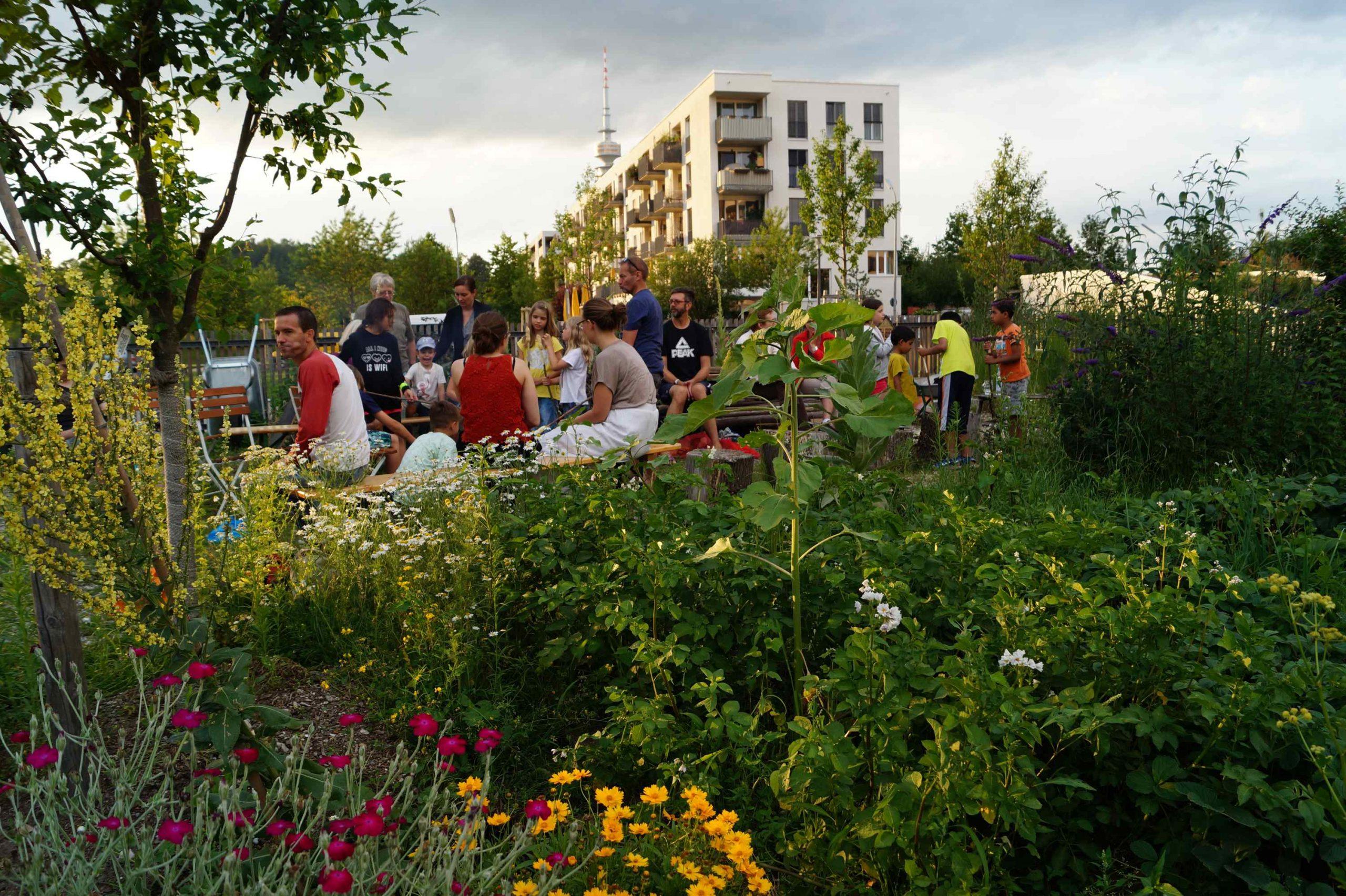 NachbarschaftsBörse am Ackermannbogen: Miteinander gärtnern und Miteinander feiern