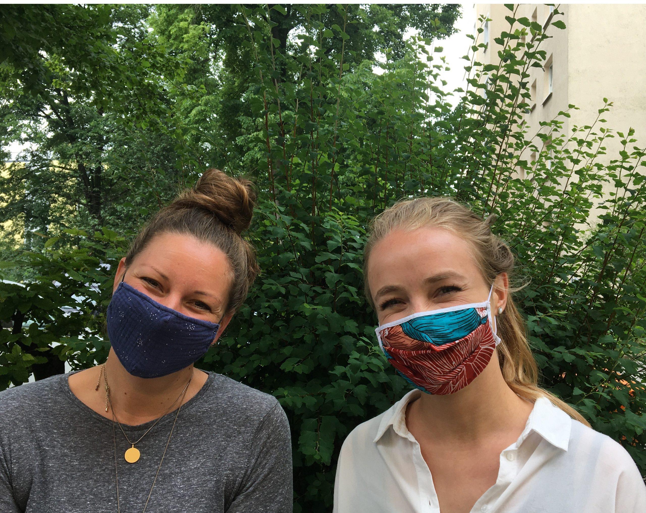 Nachbarschaftstreff Domagkpark: Treffleitungen Nicola Eggert und Sina Wörsdörfer
