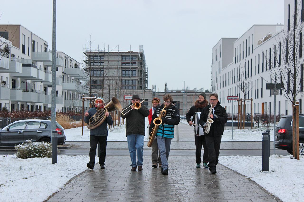 Die Band Beatprotest zum Eröffnungsfest des Nachbarschaftstreff Perlach