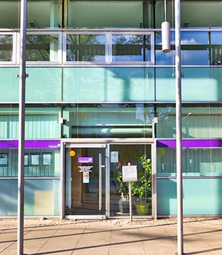 Nachbarschaftsbüro Hasenbergl: Außenansicht