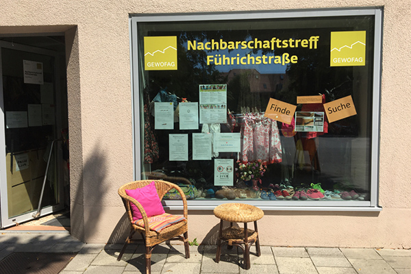 Nachbarschaftstreff Führichstraße: Außenansicht