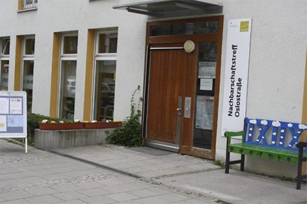 Nachbarschaftstreff Oslostraße: Eingang