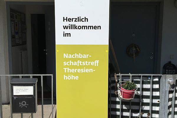 Theresienhöhe II: Eingang